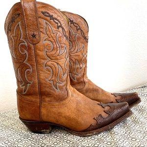 Tony Lama Sante Fe Leather Cowboy Western Boots